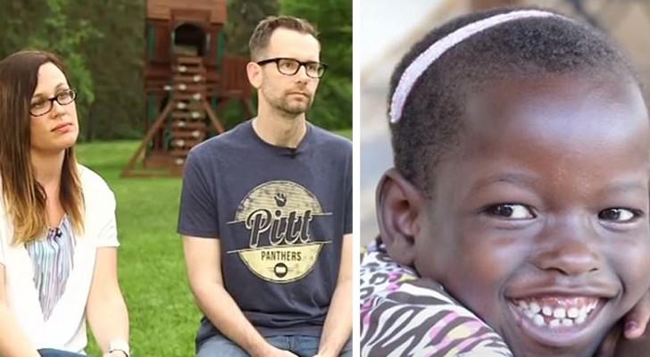 Adotam uma garota africana acreditando que ela seja pobre e negligenciada e descobrem que ela tinha uma família