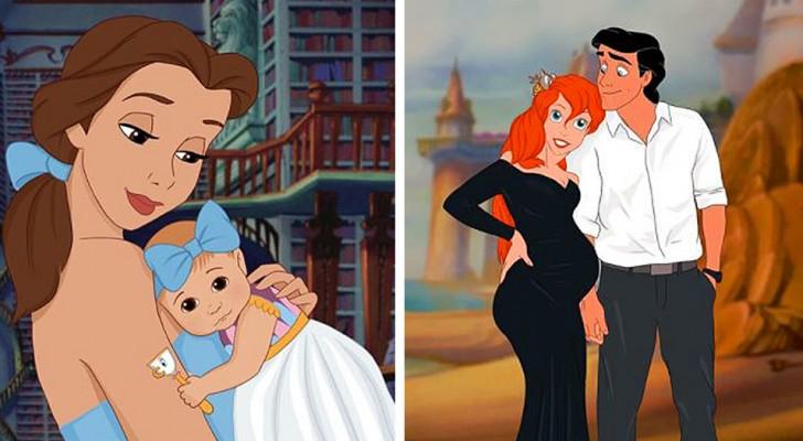 Eine junge Frau redesignt die Disney-Prinzessinnen als schöne Mütter, eine süßer als die andere