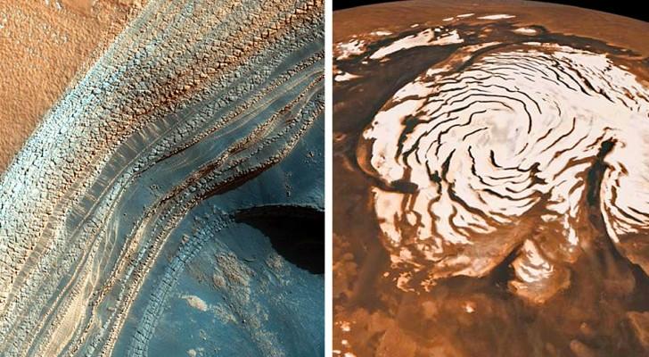 Marte, scoperti diversi laghi salati sepolti sotto i ghiacciai del suo polo sud: potrebbero ospitare forme di vita
