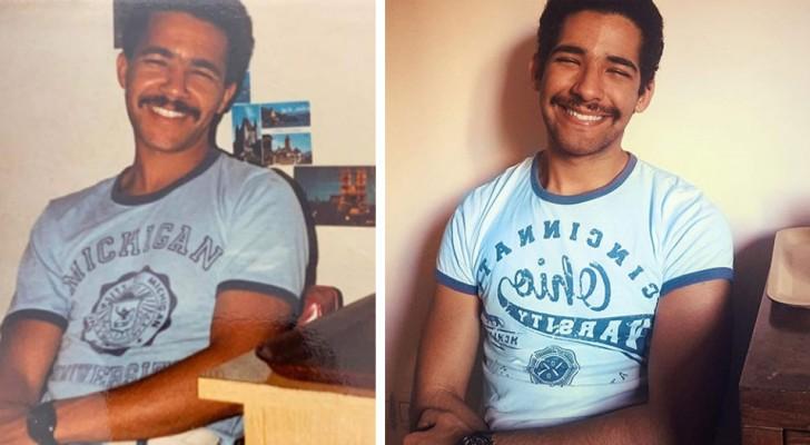 21 persone hanno provato a ricreare alcune vecchie foto familiari con risultati sorprendenti