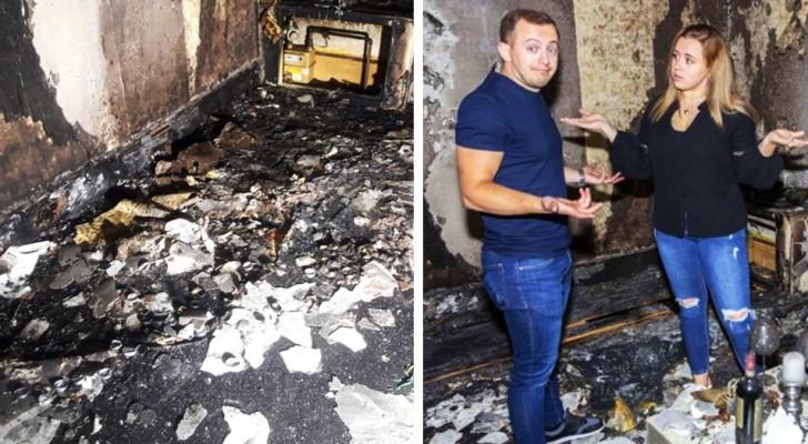 Hij doet zijn vriendin een aanzoek met 100 kaarsen, maar uiteindelijk steekt hij het huis in brand