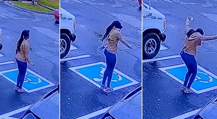 Une jeune sans-abri est engagée dans un restaurant : la vidéo la montre en train de sauter de joie à l'extérieur du restaurant