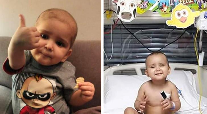 Questo bimbo è sopravvissuto alla leucemia, a un trapianto e al Covid: a 2 anni è già un piccolo guerriero