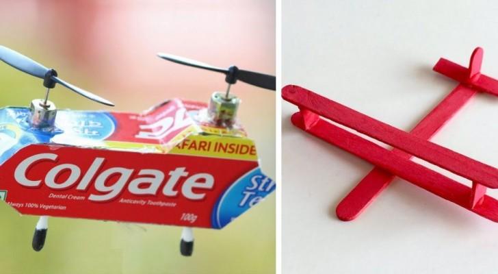 5 strepitosi lavoretti per fabbricare aeroplani e velivoli riciclando oggetti di scarto