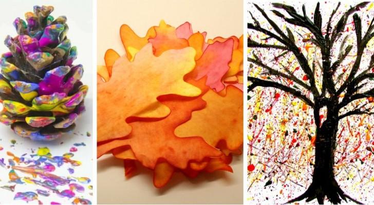 7 techniques décoratives amusantes inspirées de l'automne et idéales pour les plus petits