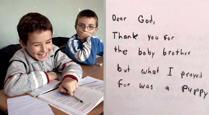 La maestra chiede ai bimbi di terza elementare di scrivere lettere a Dio: le risposte sono spassosissime
