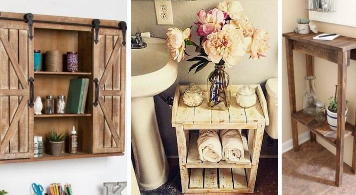 10 solutions ingénieuses pour réaliser des meubles pour la salle de bain en recyclant le bois des palettes