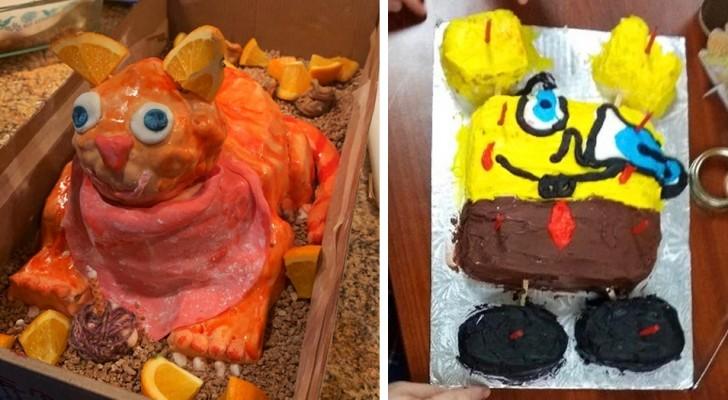 17 foto's getuigen van de rampzalige pogingen van degenen die probeerden ambitieuze verjaardagstaarten te maken