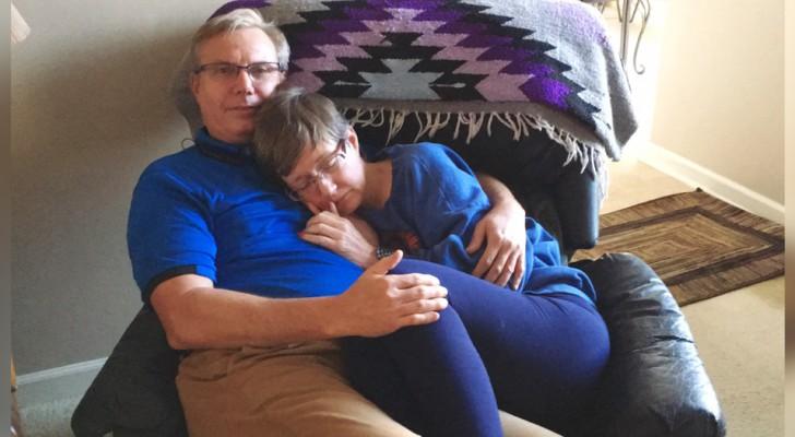 A foto comovente de uma mulher com demência nos braços do marido: ela não se lembra de nada, mas se sente segura