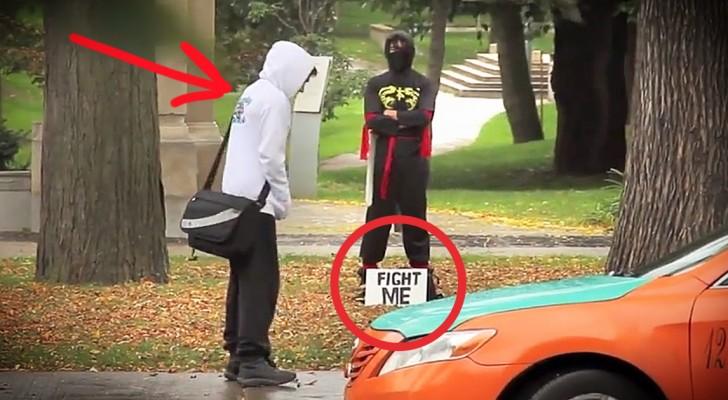 Estas pessoas não imaginam o que vai acontecer quando eles aceitarem o desafio do ninja!