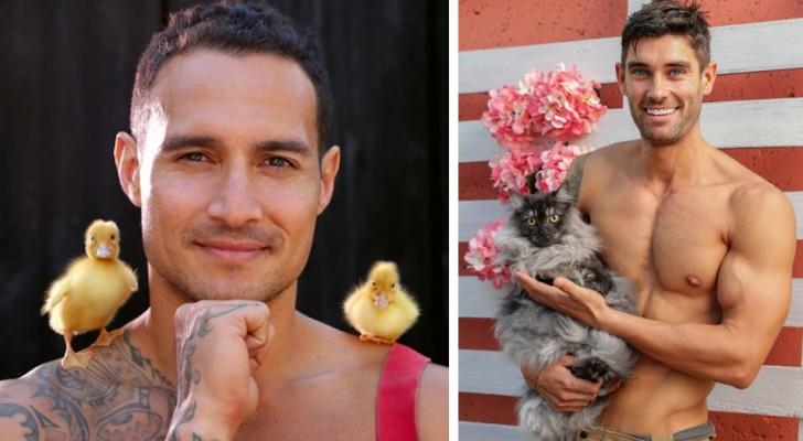 Australische Feuerwehrmänner posieren für wohltätige Zwecke mit Tieren im neuen 2021-Kalender