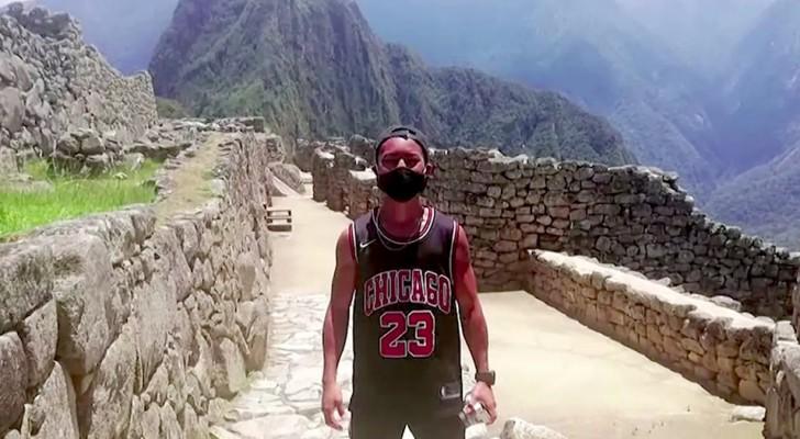 Machu Picchu öffnet seine Türen wieder für einen einzigen Touristen: er hatte 7 Monate in Peru gewartet, um es zu besuchen