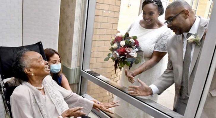 La madre è in una casa di riposo, così la figlia decide di sposarsi nel giardino davanti alla sua finestra