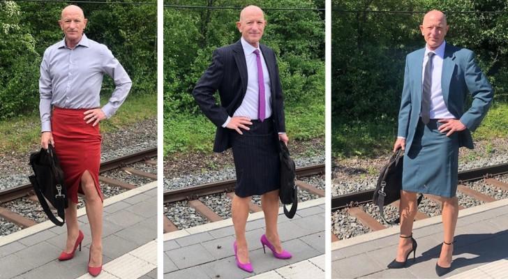 Cet homme est hétéro, marié, avec des enfants et aime porter des talons hauts et des jupes