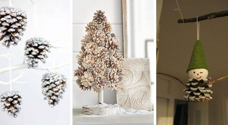 10 magnifiques décorations DIY à réaliser avec des pommes de pin pour Noël