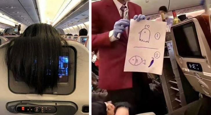 17 tra le situazioni più assurde e surreali che i passeggeri hanno vissuto a bordo di un aereo