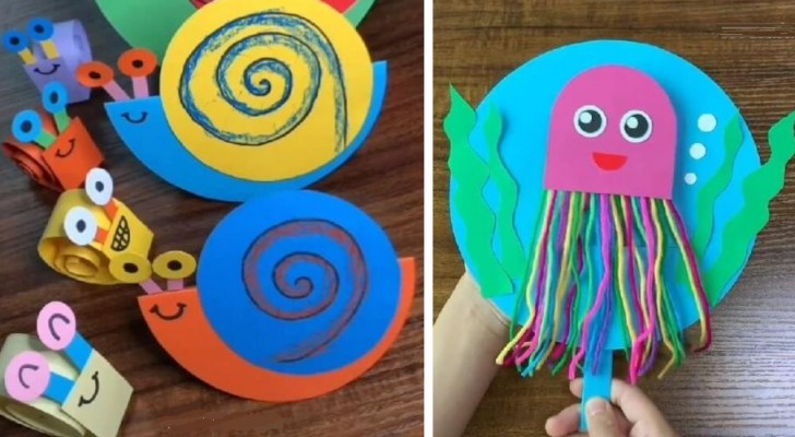 8 animaletti di carta coloratissimi per far divertire i bimbi in modo creativo