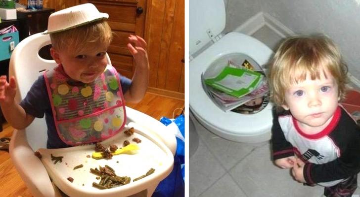 17 foto di bambini capricciosi che hanno letteralmente fatto impazzire i propri genitori