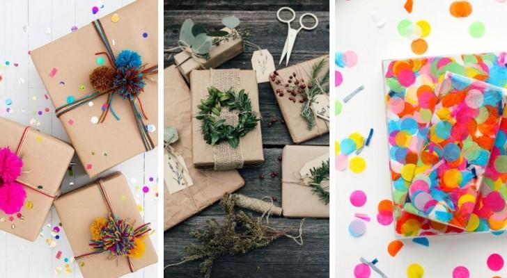 10 trovate tutte da copiare per realizzare a mano splendidi pacchetti regalo