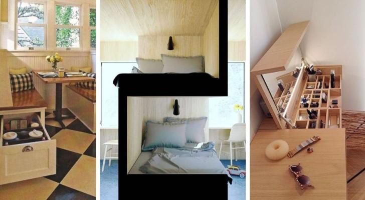 10 soluzioni d'arredo super-ingegnose per ricavare spazio extra in ogni stanza