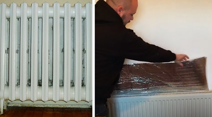 A sheet of aluminum foil behind the radiator: one trick to survive the winter and save on the heating bill