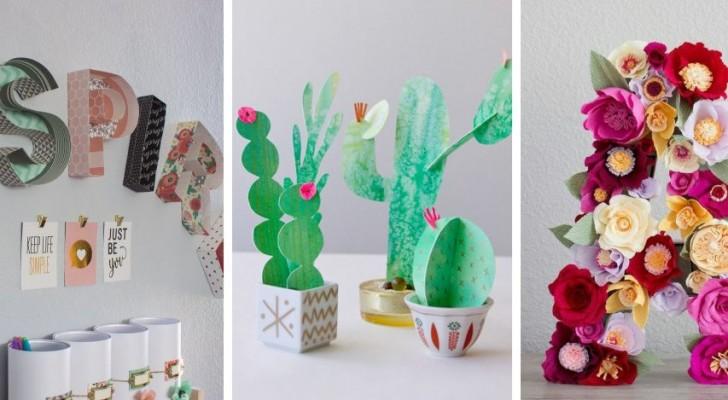 11 strepitosi lavori di carta per decorare casa con oggetti colorati e tridimensionali