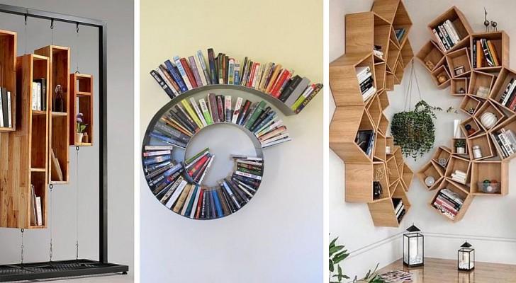 13 soluzioni affascinanti per arredare con librerie fai-da-te che sembrano di design
