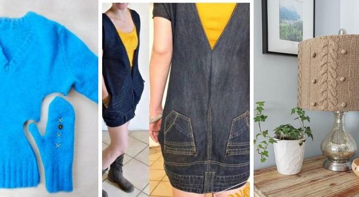11 strepitosi progetti di riciclo tutti da provare per riutilizzare vecchi vestiti con creatività