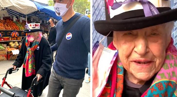 Jetzt kann ich glücklich sterben, so erzählte diese 104-jährige Frau der Welt von ihrer Stimme gegen Trump...