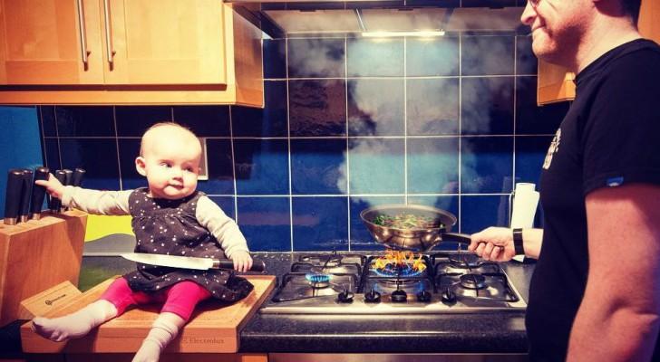 Deze vader stuurt familieleden foto's waarin zijn dochter altijd in gevaar is: maar het zijn gewoon schitterende fotomontages