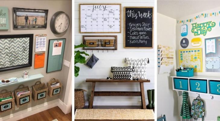 11 idee strepitose per creare un pratico organizer a parete da cui gestire tutte le faccende di casa
