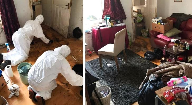 Hij had zijn huis al 12 jaar niet schoongemaakt, daarom hielpen zijn vrienden hem: na 50 uur schoonmaken was het appartement weer glanzend schoon