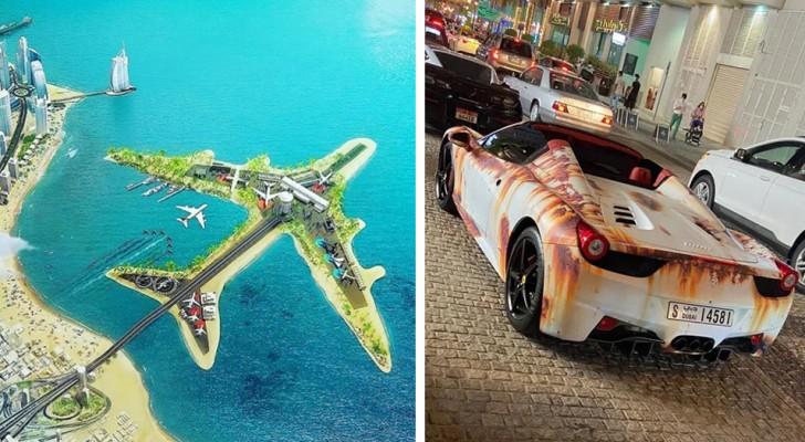 16 foto's van Dubai die ons laten zien hoe hier de grens van overdrijving wordt verlegd