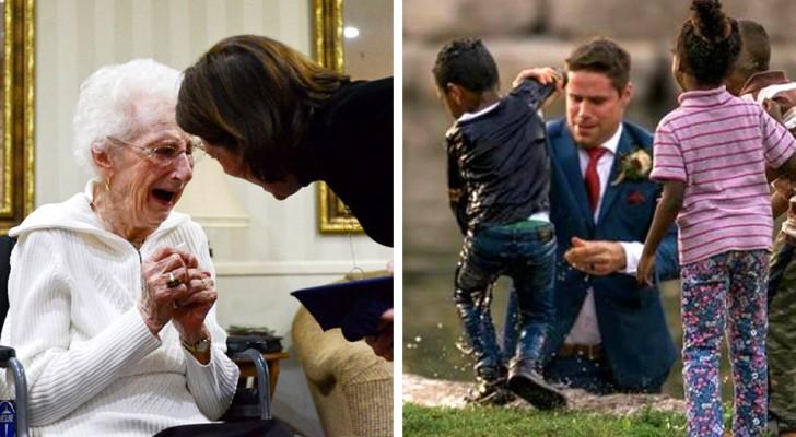 16 spannende Fotos zeigen, dass Menschen immer noch fähig sind, freundliche Taten zu vollbringen