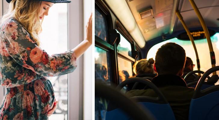 Un homme refuse de céder sa place dans le bus à une femme enceinte parce qu'il se sent trop fatigué après le travail
