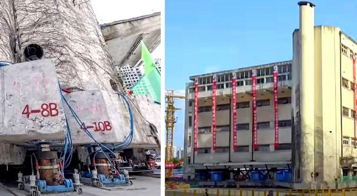 Een gebouw van 5 verdiepingen loopt 60 meter lang op honderden robotpoten: de beelden zijn verbluffend