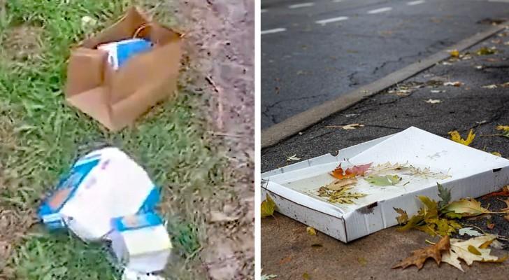 De autoriteiten dwingen twee toeristen 80 km terug te rijden om hun afval dat ze op straat hadden achtergelaten op te ruimen