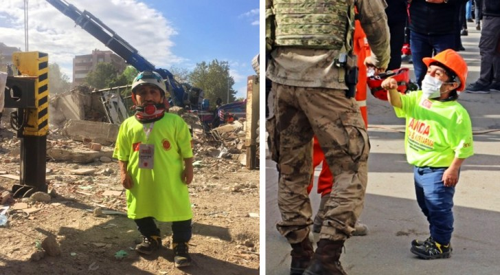 After the earthquake he volunteered to help: a boy with dwarfism manages to save more people thanks to his small stature