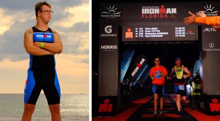 Questo ragazzo è la prima persona con Sindrome di Down ad aver vinto l'Ironman, l'estenuante competizione sportiva