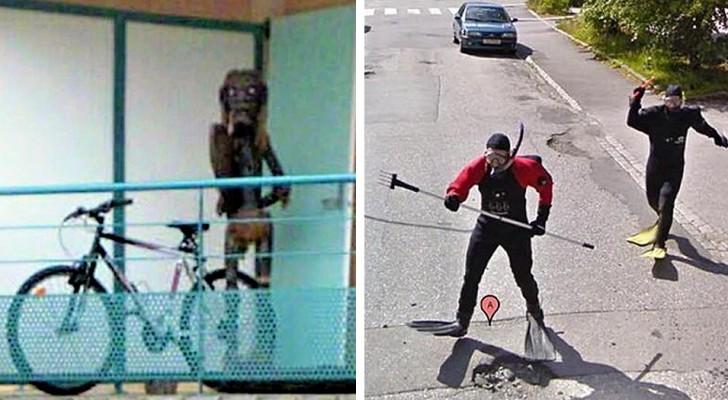 19 van de meest absurde en grappige afbeeldingen gemaakt door Google Street View