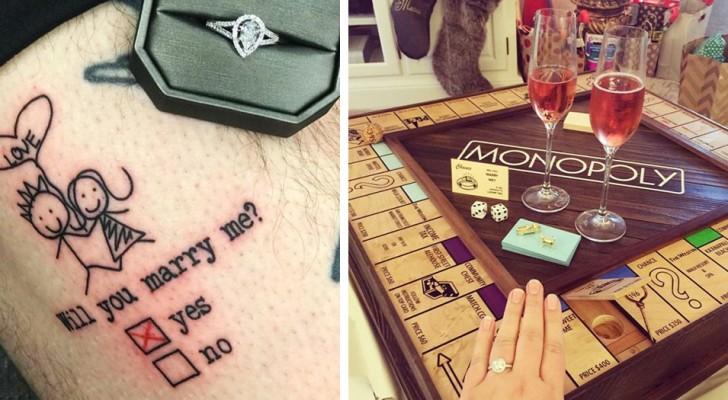 Proposte di matrimonio indimenticabili: 15 persone che hanno saputo usare la fantasia per farsi dire di sì