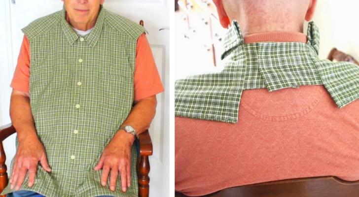 Questi bavaglini per adulti sembrano camicie abbottonate e restituiscono un po' di dignità a chi li indossa