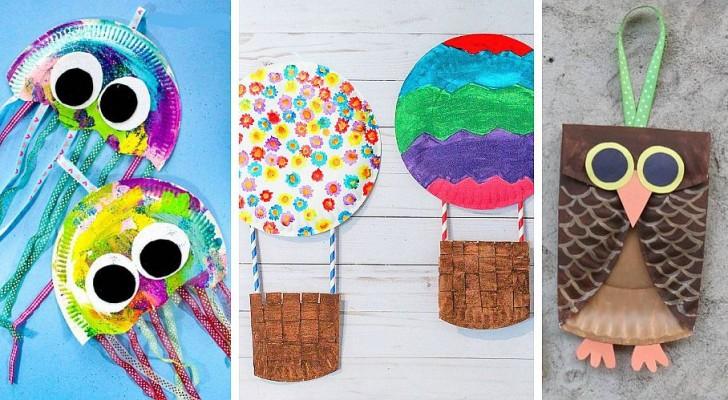 10 idee per lavoretti adorabili da realizzare con i bambini riciclando piatti di carta