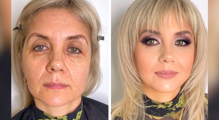18 vrouwen die hun look revolutionair hebben veranderd dankzij de vaardigheid van een beroemde visagist