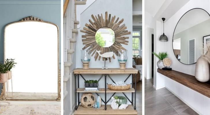 11 specchi super-affascinanti perfetti per arredare con classe l'ingresso di casa