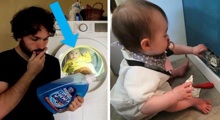 Un papà invia dei fotomontaggi sconcertanti della figlia alla moglie ogni volta gli chiede come sta la bambina