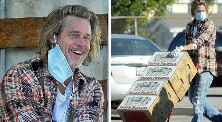 Brad Pitt a été aperçu en train de décharger et de distribuer des produits de première nécessité dans un quartier pauvre