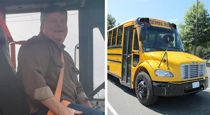 Le strade sono ghiacciate e poco sicure: l'autista dello scuolabus si ferma e paga la colazione a tutti i bambini