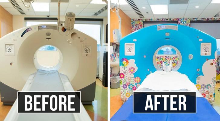 Un ospedale pediatrico ha colorato la risonanza magnetica per renderla meno spaventosa ai bambini