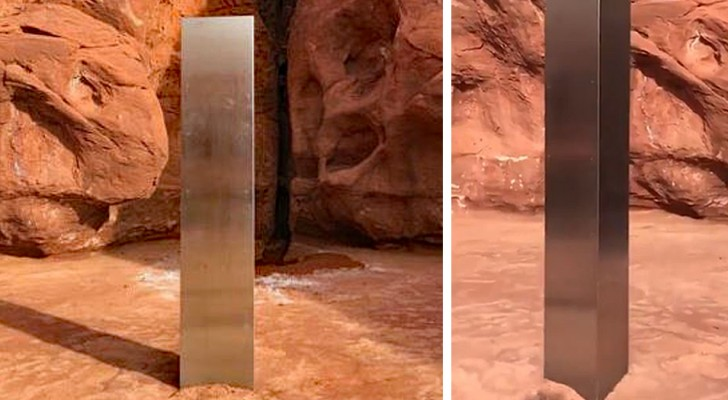 USA: Ein Team von Wissenschaftlern entdeckt einen mysteriösen Monolithen, der wie etwas aus einem Science-Fiction-Film aussieht